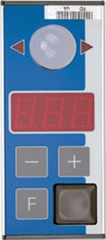 PTF-3N-2 Pick-by-Light Display für senkrechten Einbau mit 3-stelligen Anzeige und Tasten