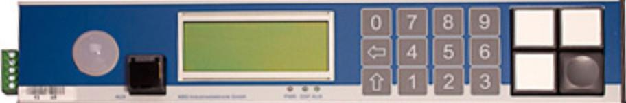 PTF-Z-CTRL Pick-by-Light Display und Controller in einem Modul. LCD-Anzeige  mit mehrere Tasten